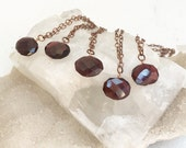 Garnet January Birthstone Necklace