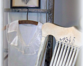 ExqUISITE antique or vintage lace collar, bodice, ruffles, side ties