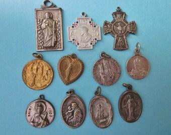 DeStash Vintage Religious Medals/Pendants