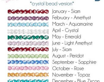 Birthstone Charms  | Birthstone, Personalized Crystal Birthstone Necklace, Personalized Jewelry, Mothers Gift, Gift for Mom, Silver, Gold