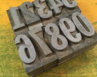 1940's Letterpress Number Blocks