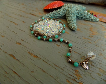 """Special listing for CRESSA ... 1 Blue Lagoon, 1 red berry 22"""" necklaces"""