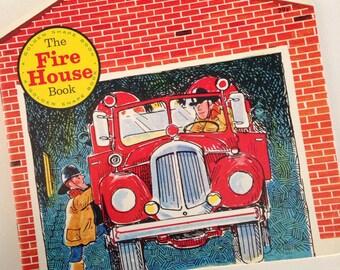 NOS - 1973 The Fire House Book - by Colin Bailey - A Golden Shape Book - Golden Press
