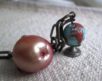 50s Vintage Charm Bracelet Teacher gift Honor Society  vintage apple charm vintage globe charm vintage 50s charm bracelet Sport Tennis charm