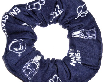 Penn State Nittany Lion Navy Blue Fabric Hair Scrunchies Scrunchie NCAA