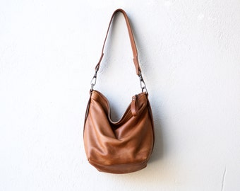 Tiny Boho  - soft leather small slouchy shoulder or crossbody bag