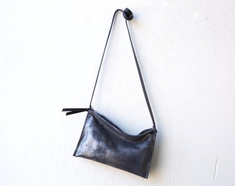 EDC Compartment Clutch medium - clutch or crossbody bag - with crossbody strap - select leather color in drop down menu