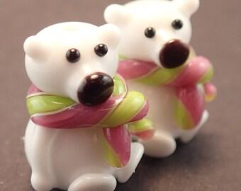 Pink and Lime Polar Bears