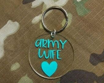 Military Keychain, MILSO Keychain, Customizable Round Acrylic Keychain