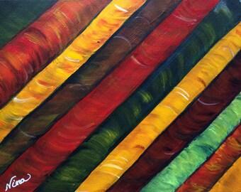 "Acrilic abstract art 9""x12"" canvas board"
