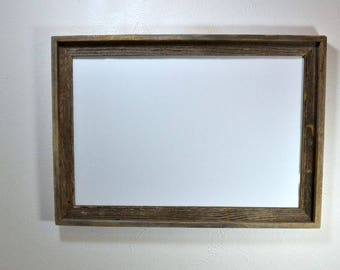 16x24 picture frame from reclaimed wood complete with glass