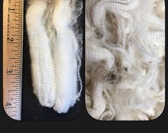 Spectacular raw Merino fiber for spinning, spinning fiber, natural white spinning fiber