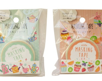 Colorful Kitchen Washi Tape Set (2 rolls) Amifa Masking Tape Kitchen (37852)