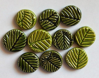 embossed nature inspired clay coins...special price