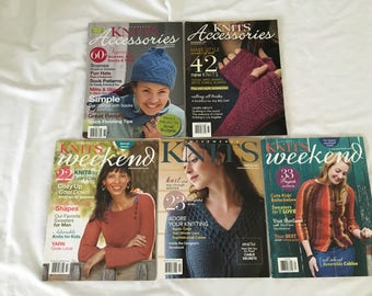 5 Issues Of Interweave Knits Weekend Knit Accessories Magazines Knitting Patterns Gifts Adults Baby kids Knitting