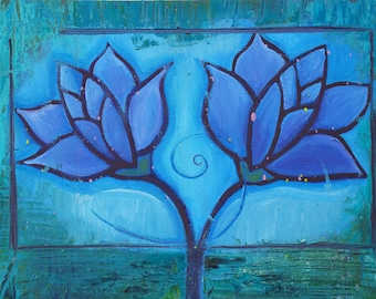 Blue Lotus - Flower Art
