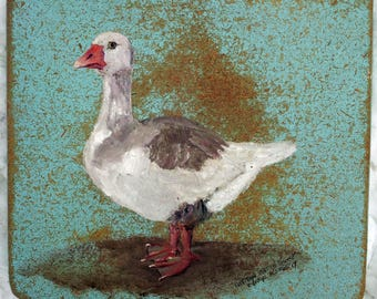 Cotton Patch Goose on wood