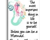 Mermaid Magnet, Mermaid Fridge Magnet, Refrigerator Magnet, Kitchen Magnet - RM011