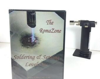 Soldering class, Setting  cabochons, Torch soldering, soldering simplified, DVD - Learn To SOLDER, soldering workshop, bezel setting