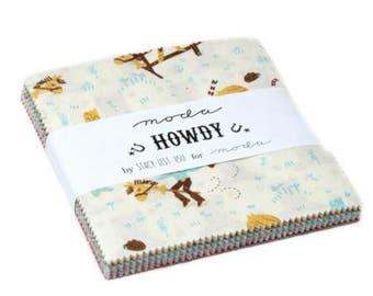SALE 5 inch charm pack HOWDY Moda Fabric by Stacy Iest Hsu