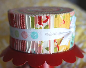 SALE HELLO GORGEOUS Jelly Roll 2.5 inch strips fabric by Riley Blake from Jen Allyson