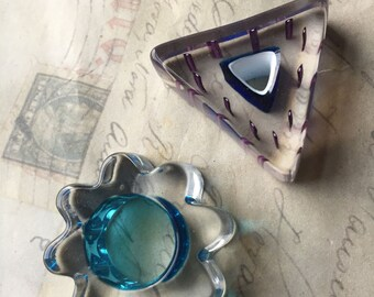 Set of 2 Furnace Glass pendants