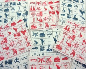 Vintage 1950s Travel Game Zit Zingo Cards Set of 12