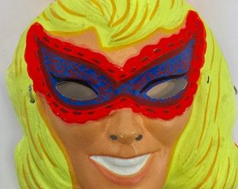 Vintage Halloween  Mask, masked lady, mascarade