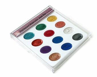 Zig Kuretake Gansai Pearlescent Jewel Box Watercolor Palette
