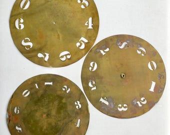 Brass Stencil Round Numbered Wheel Vintage Antique