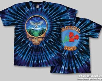 Grateful Dead  Steal Your Owl Tie Dye Shirt  Deadhead  hippie   Sizes  XL  2XL    mens clothing