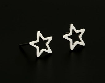 Star Stainless Steel Stud Earring Finding (EH109B)