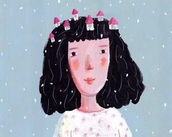 it is snowing    print