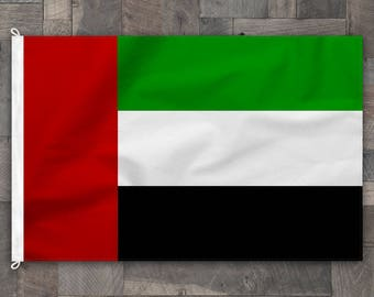 100% Cotton, Stitched Design, Flag of United Arab Emirates, Made in USA