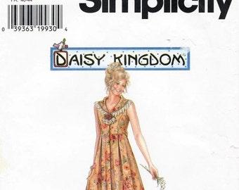 1997 Simplicity DAISY KINGDOM #7551 Misses Dress Size P 12, 14, 16