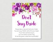 Purple Floral Don't S...