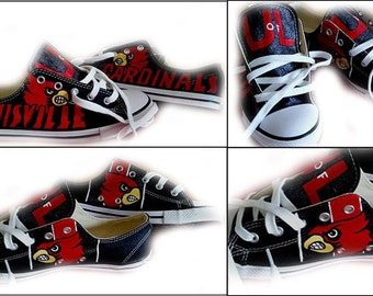 Louisville Cardinals, Converse, Sneakers, Sports, Basketball, Football, College, Fan, Shoes Included