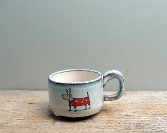 Little Christmas Dog Espresso Cup