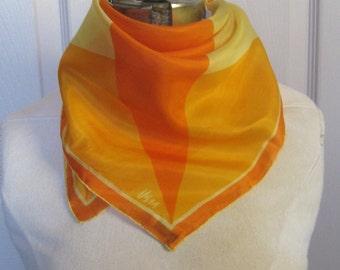 orange silk scarf . silk scarf .  Vera scarf . Vera Neuman . vera silk scarf