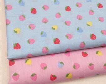 4377 - Strawberry Cotton Fabric - 62 Inch (Width) x 1/2 Yard (Length)