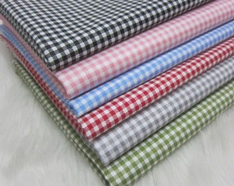4380 - Gingham Cotton Fabric - 62 Inch (Width) x 1/2 Yard (Length)