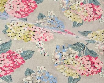 4220 - Cath Kidston Hydrangea (Beige) Cotton Canvas Fabric - 57 Inch (Width) x 1/2 Yard (Length)