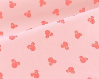 4461 - Minnie Cotton Jersey Knit Fabric - 68 Inch (Width) x 1/2 Yard (Length)
