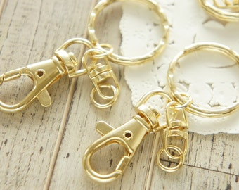 2 pcs Gold Key Chain Charm (17mm39mm) AZ407