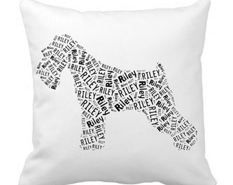 Personalized Schnauzer Pillow Cover Pillowcase Dog Breed Home Decor Bed Cushion