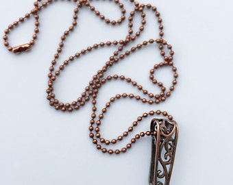 Copper Filigree Lanyard