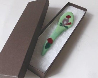 One of a kind spoon - fused glass