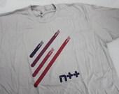 size L: N++ 4 ninjas Tshirt - light gray