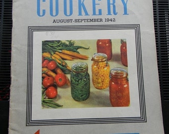 Spring is Coming Vintage American Cookery Magazine, Aug-Sept 1942