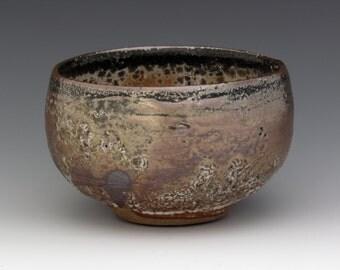 Chawan Shino Carbon Trap tea bowl
